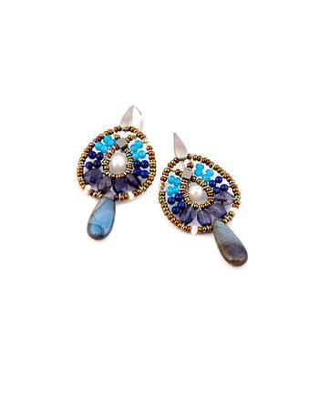 Earrings FENICE Small Blu