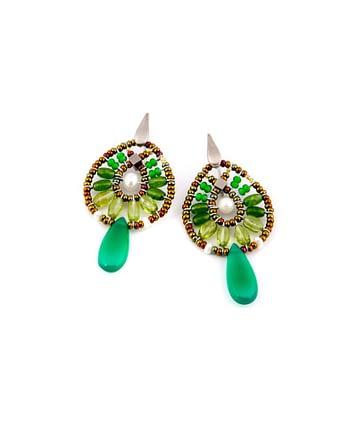 earrings-fenice-small-Green