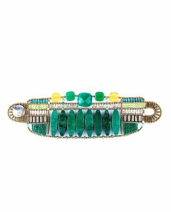 Bracelet Incas large green