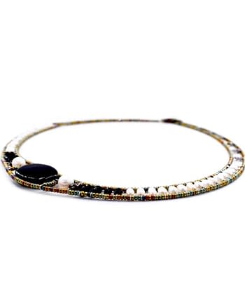 Necklace NU Round Black Onyx