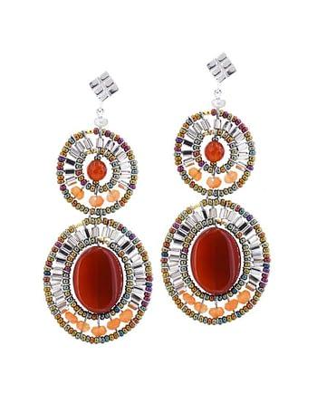 Earrings BUBBLE Red