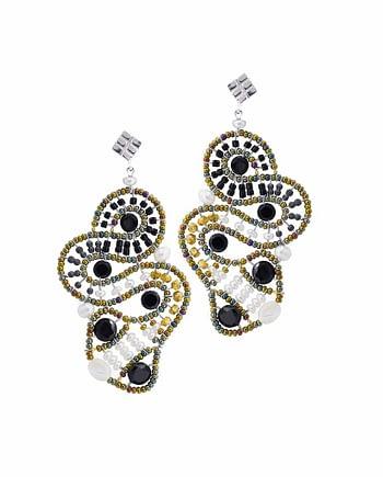 Earrings MAMBA Black