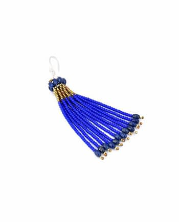 Earrings Pompon Mono Cobalt - Ziio Jewels