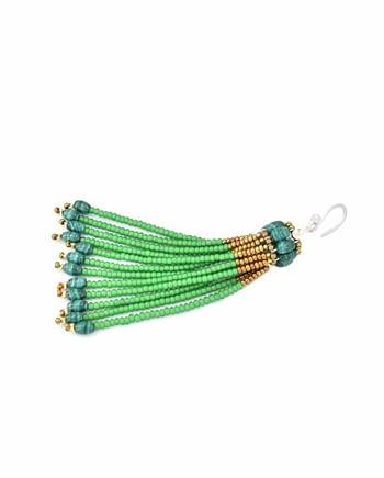 Earrings Pompon Mono Green - Ziio Jewels