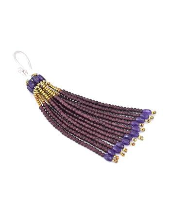 Earrings Pompon Mono Purple - Ziio Jewels