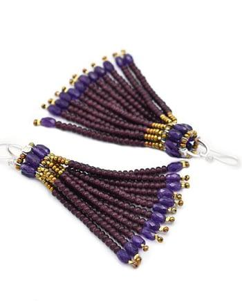 Ziio-jewels-Earrings-pompon-Purple