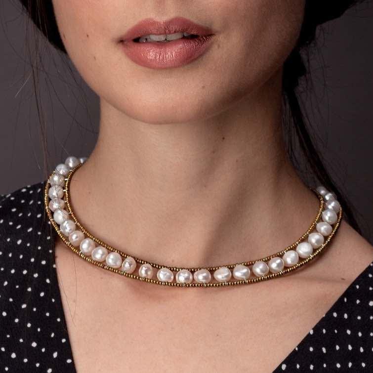 Necklace Giro Pearl