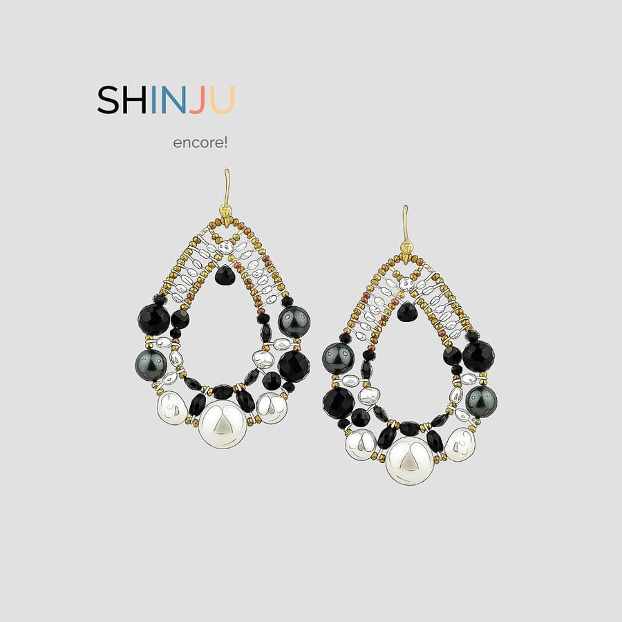 Shinju encore - Nuovi colori Orecchini-Shinju-Nero - Design -Ziio Gioielli
