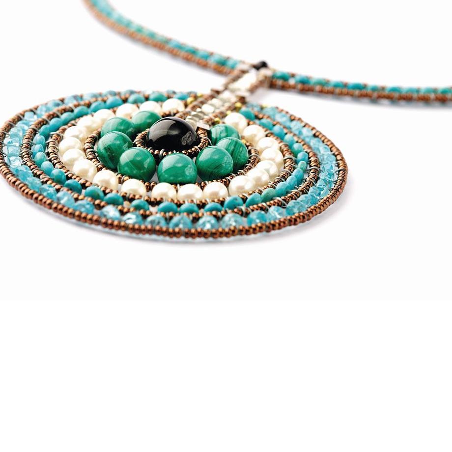 Handmade necklace VENUS Blue 2