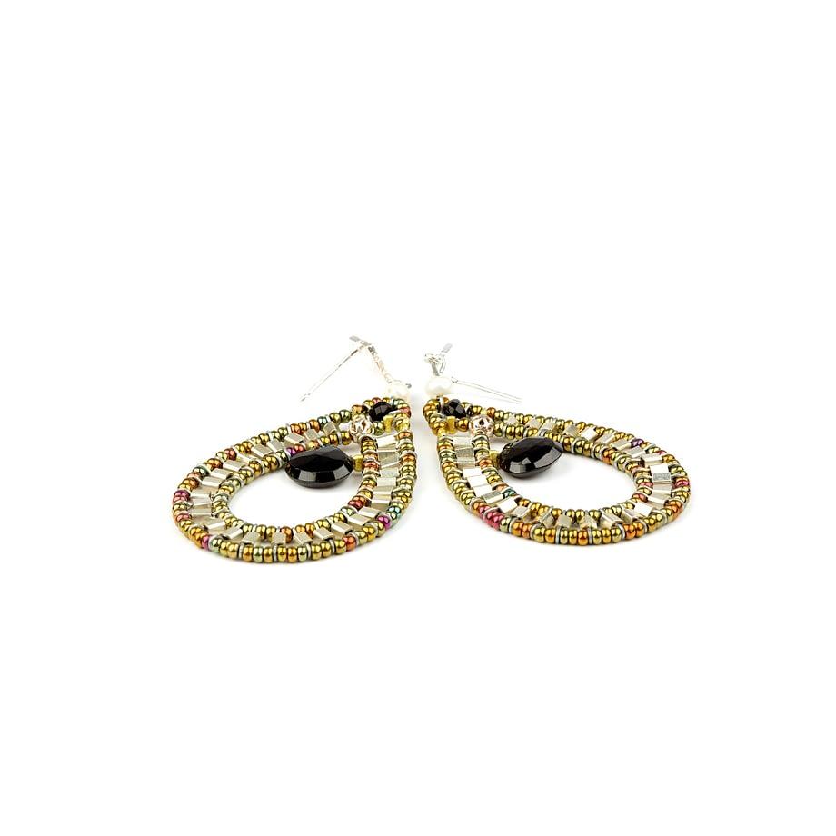 Handmade Earrings GOUTTE Black