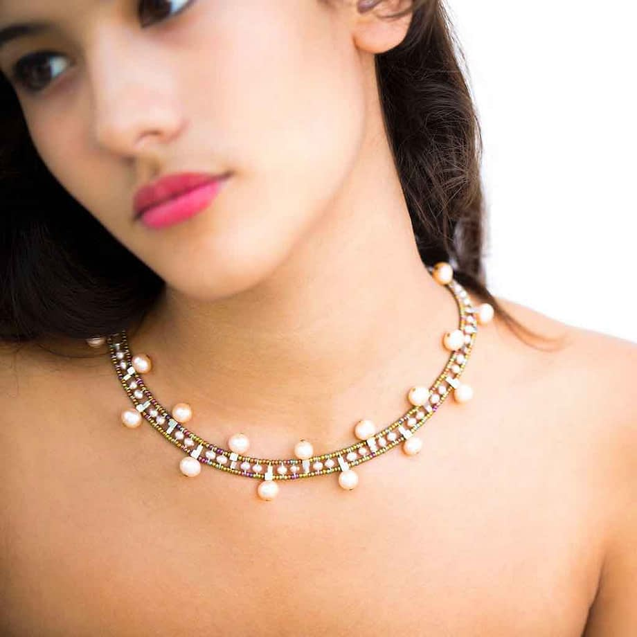 Ziio jewels-Necklace Crown Pearl