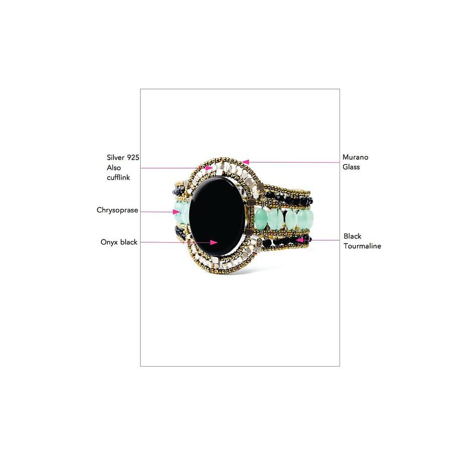 Ziio jewels LEGENDE BRACELET SUN ONYX CRISO
