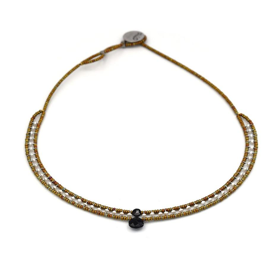 Necklace GOIABA Small Black Pearl
