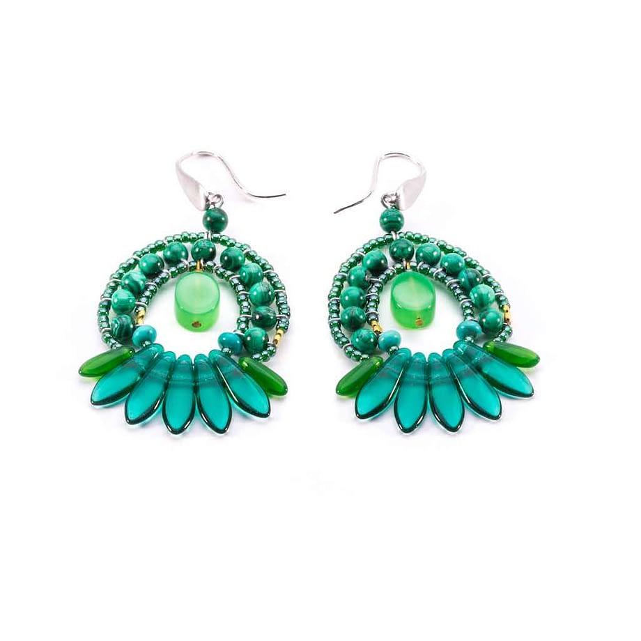 Earrings MISTINGUETT Green