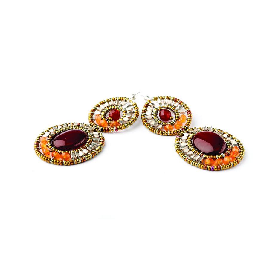 Handmade Earrings BUBBLE Red
