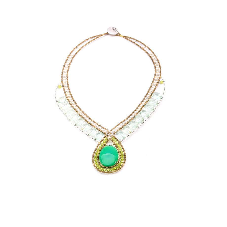 Necklace-Rose-Green-ziio-jewels