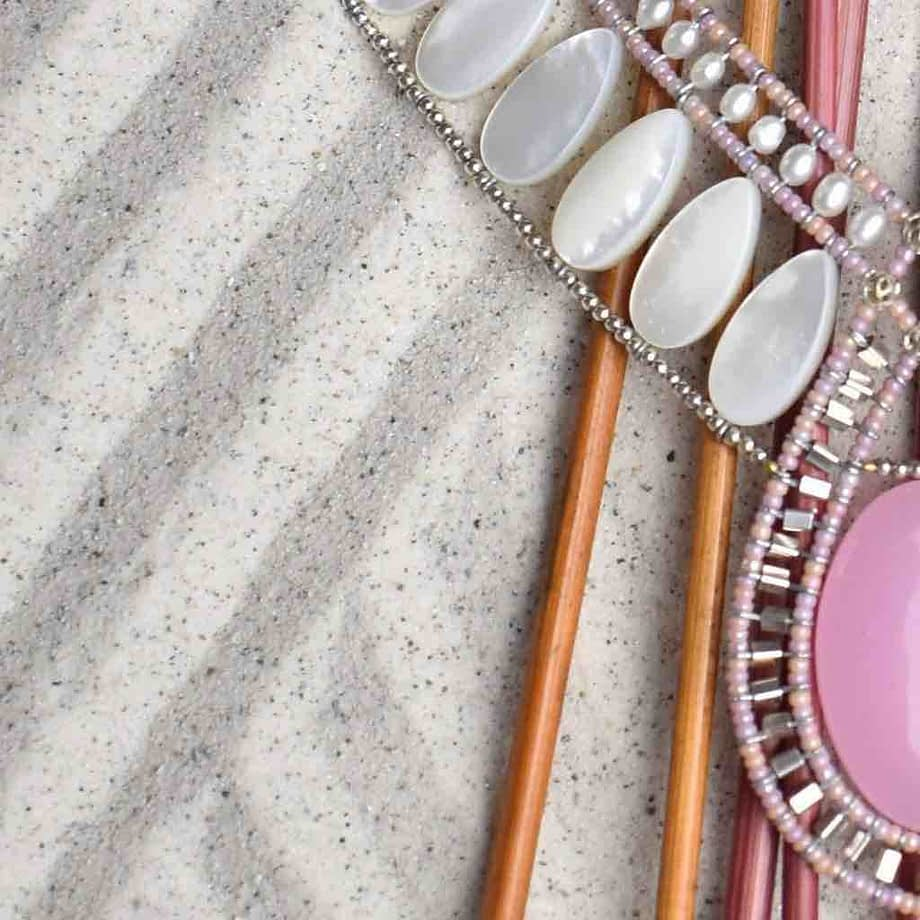 Necklace Rose Ziio Jewels Detail.