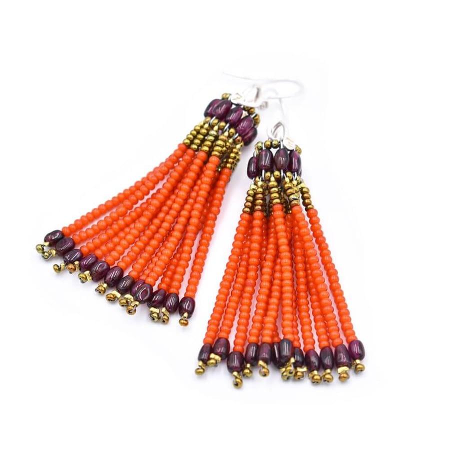 Ziio-jewels-Earring-pompon-Orange